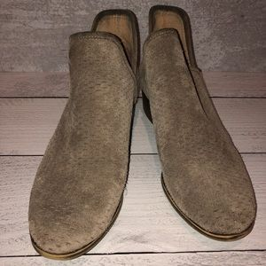 Lucky Brand   Light Brown, Perforated Booties